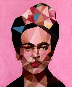 Abstract Frida Kahlo portait
