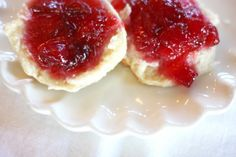 Plum jelly and home made biscuits