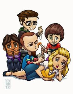 The Big Bang Theory ..............  Leonard, Raj, Sheldon, Howard and Penny.
