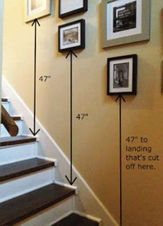 53 Ideas For Wall Decored Livingroom Frames Photo Displays Stairs #wall