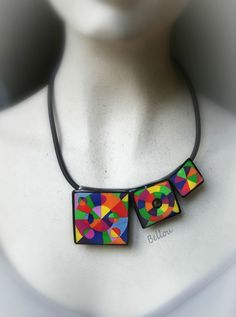Image result for interesting polymer clay necklace design