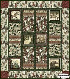 Woodlands Quilt Kit by Stitched Together Studios for Benartex