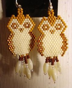 Earrings, Owls