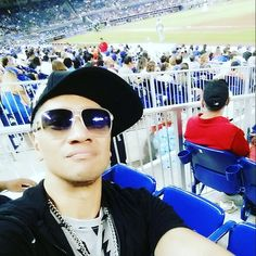 I'm chillin at da Marlins v Mets game in Miami!  Thank you buuuuddy!  Instagram me:  @TheJoeGalaxy  Styled by Joey Rolon @joeyrolon  #JOEGALAXY #TeamJoeGalaxy #SunStarRecords #funkysexycouture #highfashion #fashion #Mets #Mets #Marlins #MiamiMarlins #marlinspark #baseball #Miami #miamibeach #SouthBeach #DrinkinTheNightAway #Mixmaster #mixmasterweekend