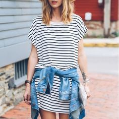 F21 Black + White Stripe Tee Shirt Tshirt Dress F21 Striped Tshirt Dress | Stripe Tee Shirt Dress in Black + White  Short sleeves Rounded neckline Classic stripe  New in package  73% polyester, 23% rayon, 4% spandex Hand wash cold Forever 21 Dresses Mini