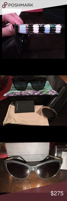 New Blvgari Women's Serpenti Polarized Sunglasses Brand New Polarized Sunglasses that come with box, hard case, soft cleaning case, cleaning cloth and information booklet. Bvlgari Accessories Sunglasses