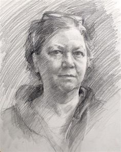 "Daily Paintworks - ""Self Portrait"" - Original Fine Art for Sale - © Taryn Day"