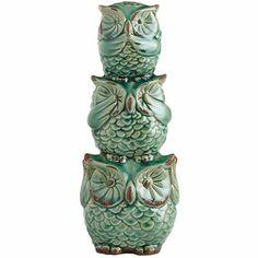 Hear, See  Speak No Evil Owl Bank Pinned by www.myowlbarn.com