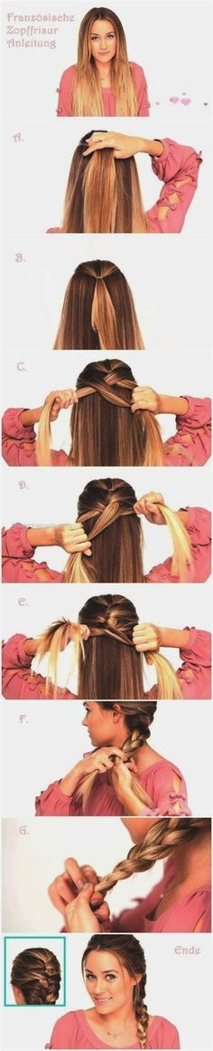 Easy Braided Hairstyles Tutorials: Trendy Hairstyle for Straight Long Hair - Hair Styles French Braid Hairstyles, Braided Hairstyles Tutorials, Trendy Hairstyles, Hairstyle Ideas, Beautiful Hairstyles, Braid Tutorials, Long Haircuts, Hairstyles Pictures, Bridal Hairstyles