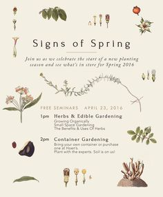 Join us as we celebrate another planting season