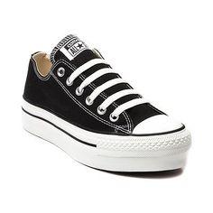 Nuevo-mujeres-Converse-All-Star-Lo-Zapatillas-De-Plataforma-Negro-para-Mujer-Hombre-Calzado-II