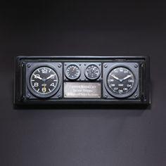 Aviator Dual Time Zone Clock / Caddy