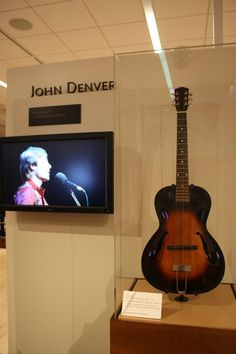JD in Museum along with his guitar