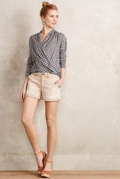 Pilcro Hyphen Laced Chino Shorts #anthroregistry
