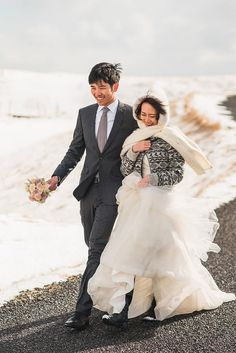 Nick and Sarah's 0 Guest  Elopement in Iceland. See their amazing photos by Nordica Photography here...@intimateweddings.com #elopements