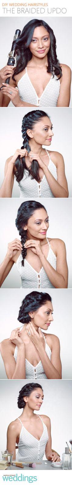 Easy steps for an elegant braided updo