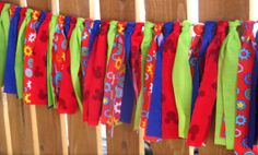 Mickey Mouse Clubhouse Inspired Rag Tie Garland   by SimplyGarland, $25.00