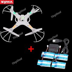 Syma X5C-1 4CH 2.4GHz RC Quadcopter Drone w 6-axis & 2MP Camera & 4 Spare 600mAh Batteries KB-375119