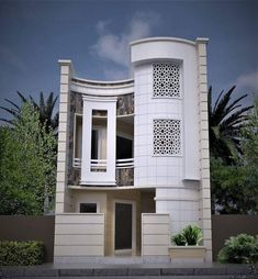 🌟Tante S!fr@ loves this📌🌟 House Front Design, Roof Design, Modern House Design, Exterior Design, Islamic Architecture, Amazing Architecture, Architecture Design, Tiny House Plans, Modern House Plans