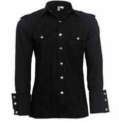 Attitude Clothing - Alternative, Gothic, Punk, Rock Clothing, Shoes, Brands + Accessories - Necessary Evil Slaine Men's Shirt