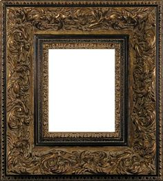 Whittle Burnished Gold Baroque Style Wide Frame