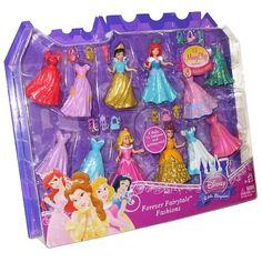 DISNEY PRINCESS LITTLE KINGDOM MAGICLIP FOREVER FAIRYTALE FASHIONS 4 DOLLS *NEW* #Disney