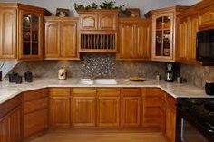 Image result for hickory kitchen cabinets