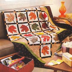 Quilt PATTERN Instructions ~ Falling Leaves ~ Autumn Applique, from Magazine #PATTERNisPAGESfromaMAGAZINE