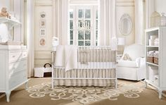 Restoration Hardware nursery with neutral colors