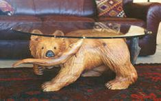 Carved by Ramsey, Wood sculpture, Dog, Eagle, Wildlife Sculpture