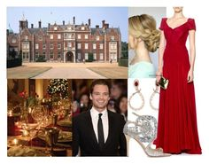 """""""Attending the Christmas dinner"""" by alexandraofwales ❤ liked on Polyvore featuring Roberto Cavalli, Zac Posen, Sebastian Professional and Jimmy Choo"""