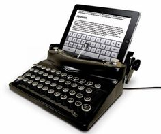A typewriter hooked up to a tablet. Don't know whether I LOVE it or HATE it.