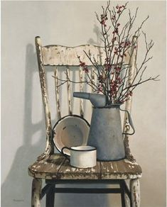 Primitive Colonial & Country style decorating ideas - primitive country decor - American country and folk art decor - Primitive Hearts & Stars Country theme - Rustic Farmhouse decor - Stars and Stripes Primitive Americana decorating ideas