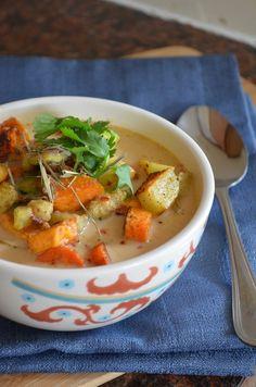 Thai Roasted Vegetables with Peanut Coconut Sauce #SensationalSides