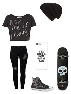 """""""Untitled #86"""" by darksoul7 ❤ liked on Polyvore featuring Gestuz, River Island, Converse, Phase 3 and Casetify"""