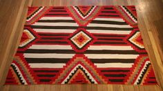 """Navajo Textile Transitional 3rd Phase Chief's Blanket c. 1890-1900 Classic 3rd Phase design     4' 7"""" x 5' 6""""TX-0341$7,500"""