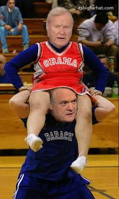 Funny pic - O'Donnell & Matthews - MSNBC Clowns