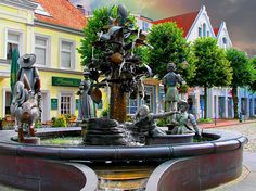 Jever, Germany ~ Fountain near the center of this charming old town. (Photo by Peter Roder)
