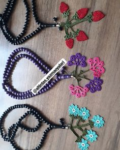 The rosaries that we have prepared for the school bazaar Ebru Altintas. Baby Knitting Patterns, Crochet Patterns, Viking Tattoo Design, Viking Tattoos, Helly Hansen, Sunflower Tattoo Design, Homemade Beauty Products, Knitted Shawls, Diy Accessories