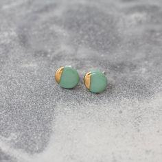 OHRSTECKER KREISGOLD MINT Mint, Stud Earrings, Jewellery, Gold, Stud Earring, Handmade, Wristlets, Schmuck, Jewels