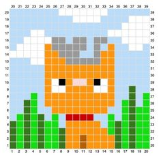 What better way to celebrate summer than with Summer Mouse. Pixel Crochet, C2c Crochet, Crochet Blocks, Crochet Borders, Tapestry Crochet, Crochet Chart, Crochet Squares, Cross Stitch Charts, Cross Stitch Designs