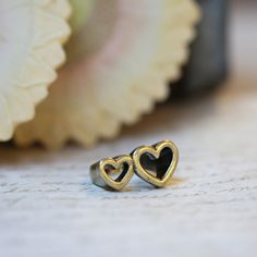 stuck to you double heart ring from Ruche. $9.99