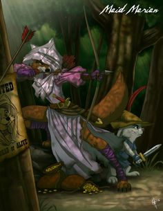 Twisted Disney Princesses - Maid Marian (this may be my favorite one!)