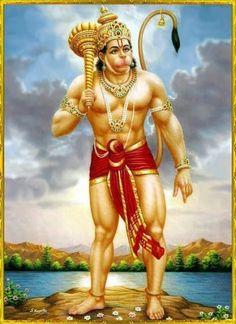 Brave Lord Hanuman Hindu God poster-reprint on paper inches)