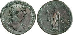 NumisBids: Numismatica Varesi s.a.s. Auction 65, Lot 185 : TRAIANO (98-117) Sesterzio. D/ Busto laureato R/ La SPes con...