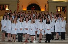 It's the College of Veterinary Medicine - Oregon State University Class of 2016! They received their white coats from the OVMA at a ceremony held last week. They are on their way to becoming veterinarians! (Photo courtesy: OSU CVM)