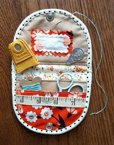 This project has been on my Must Make list for a while now. Scrap Happy Sewing by Kim Kruzich (also known as Retro Mama) is full of adorable projects to make with your leftover bits of fabric happines