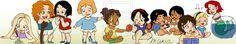 Baby Disney Princesses by Ribon95.deviantart.com on @deviantART - Left to right: Rapunzel, Merida, Mulan, Cinderella, Tiana, Snow White, Jasmine, Pocahontas, Belle, Aurora, Ariel. Click the pin to see a full-sized version!