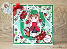 Super cute Little Ladybird card - using a Digi Stamp & Papers from Twinkle Lane Designs. Dies by Sue Wilson #creativeexpressions