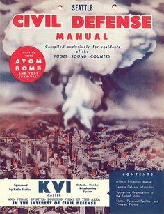 Civil Defense Manual front cover, circa 1955